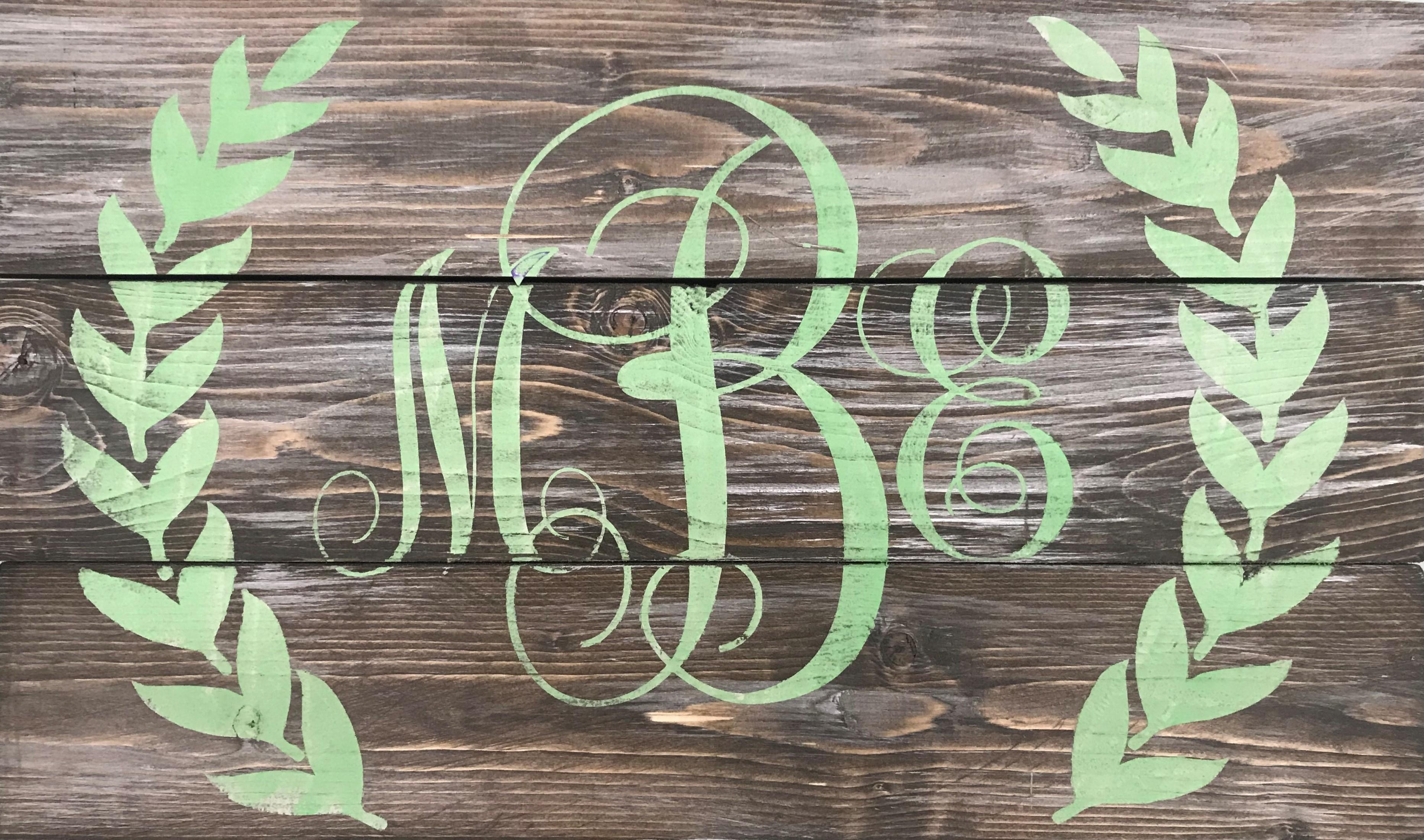 Monogram with Laurels