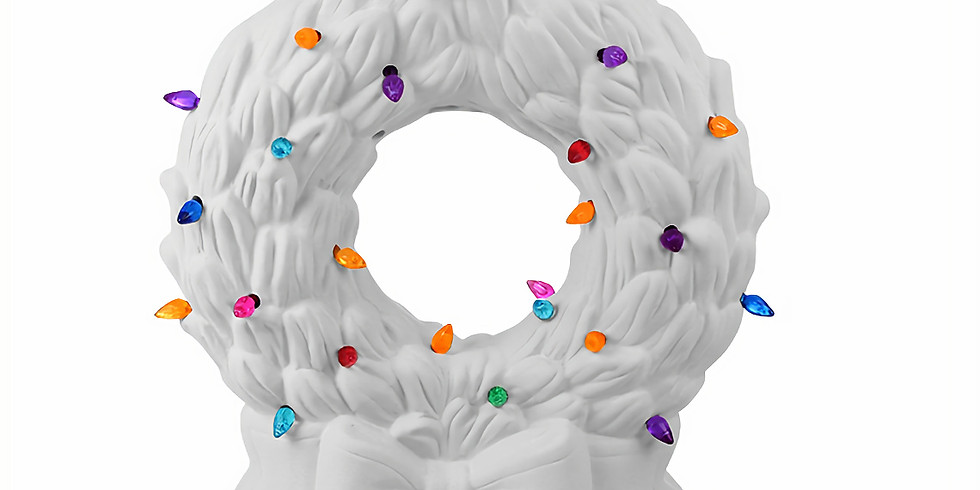 Christmas in July! Lighted Wreath