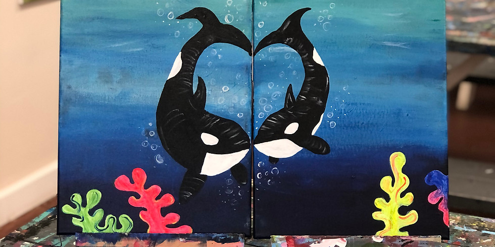 Orca Two Person Painting