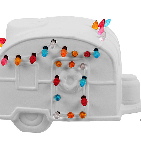 Christmas in July! Lighted Camper