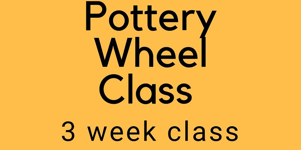 3 Week Pottery Wheel Class