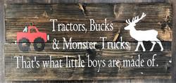 Tractors, Bucks, Monster Trucks
