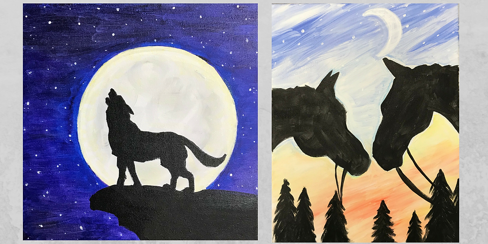 This or That:Wolf in the Moonlight or Horses in the Sunset