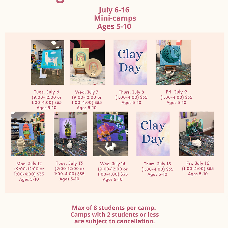 July 6-July 16: Mini-Camps: Ages 5-10
