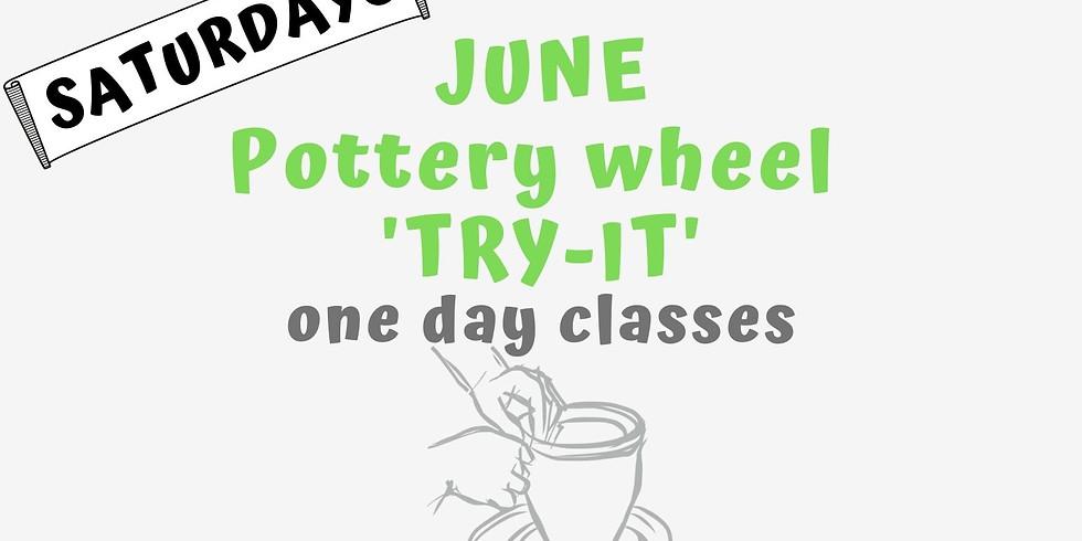 """Pottery Wheel """"Try It""""Class June"""