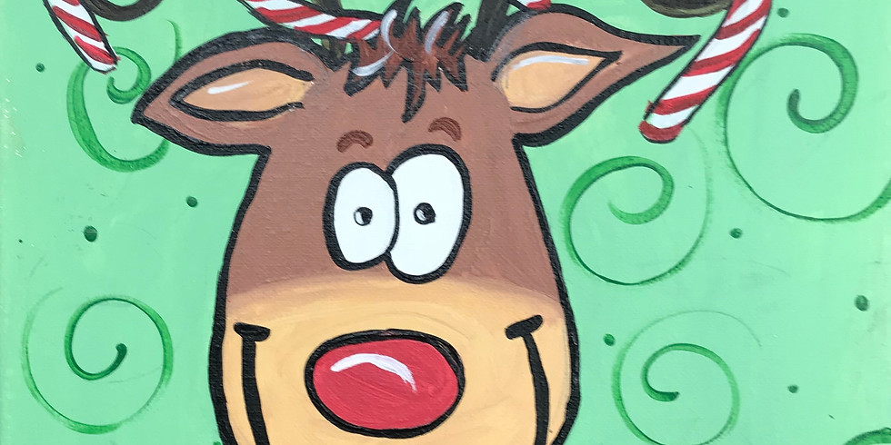 Candy Cane Rudolph