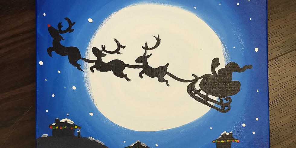 Moonlit Santa