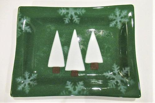 Green Christmas platter