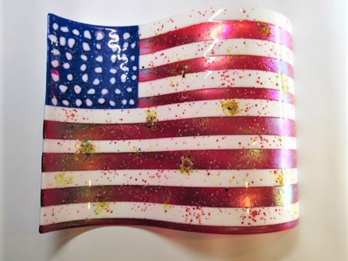 Large Flag with Fireworks