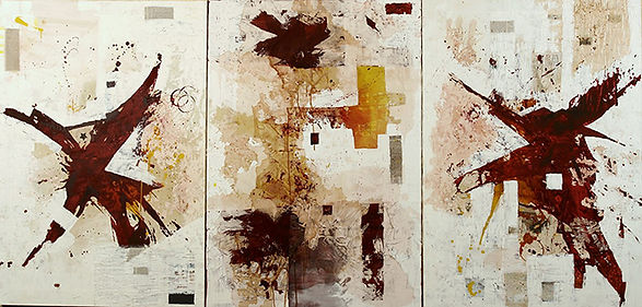 "Flipping the ""Politika"",  Acrylic on canvas, 130x270 cm"