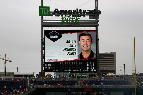 Billy Fredrick NCAA College World Series Omaha