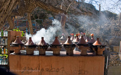 Tajines in Ourika Valley
