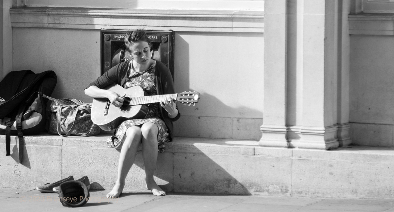 Loneliness of street musician