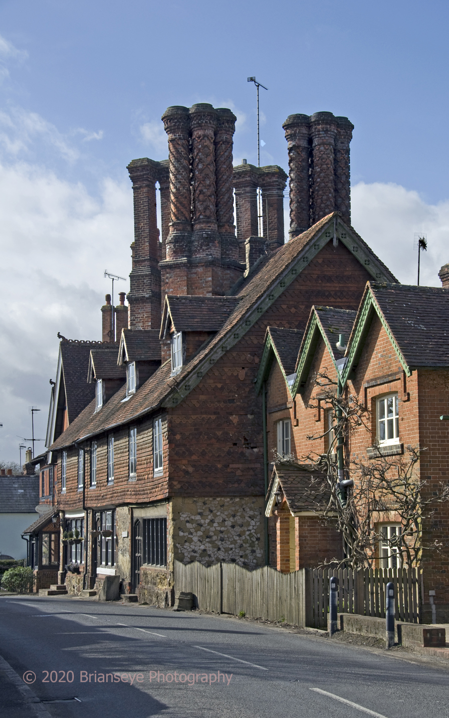 Chimneys at Albury in Surrey