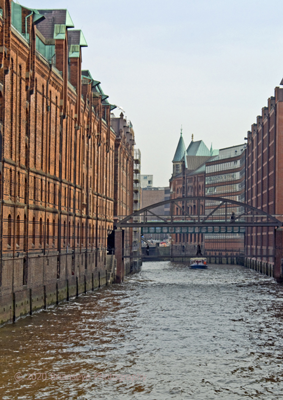 Former dock buildings in Hamburg