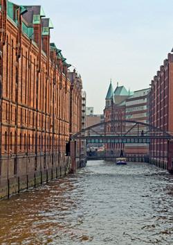 Former dock buildings in Hamburg