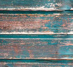 Weathered timber shed