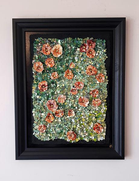 Tableau Frais et coloré représentant un champ de fleurs