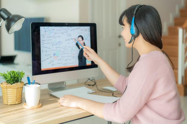 siswa belajar online