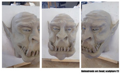 Animatronic orc head sculputure