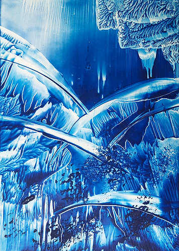 Original Wax Painting - Waterscape