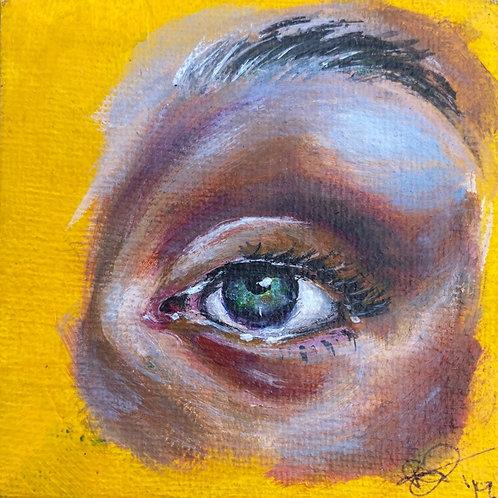 """AcrylicEye Study on 3x3"""" Canvas"""