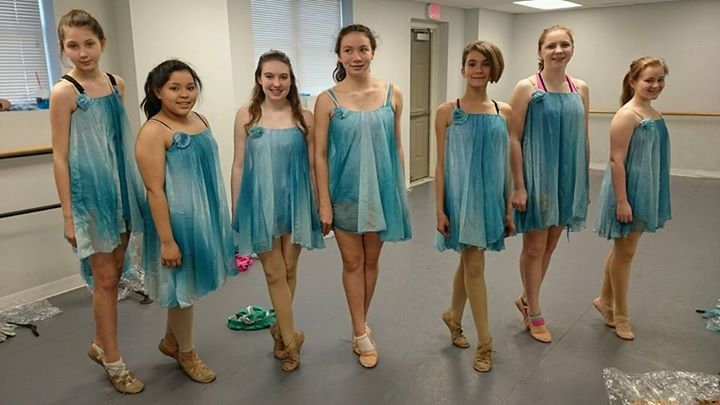 trying on recital costumes! (2016)