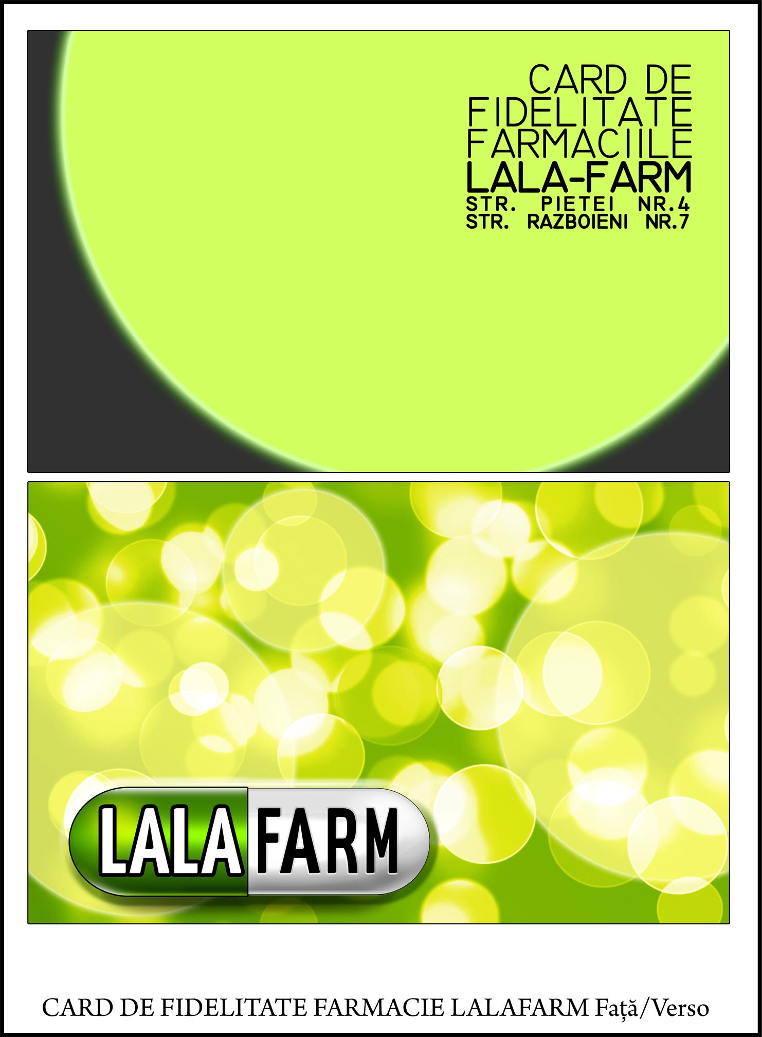 Card de fidelitate farmacie Lalafarm