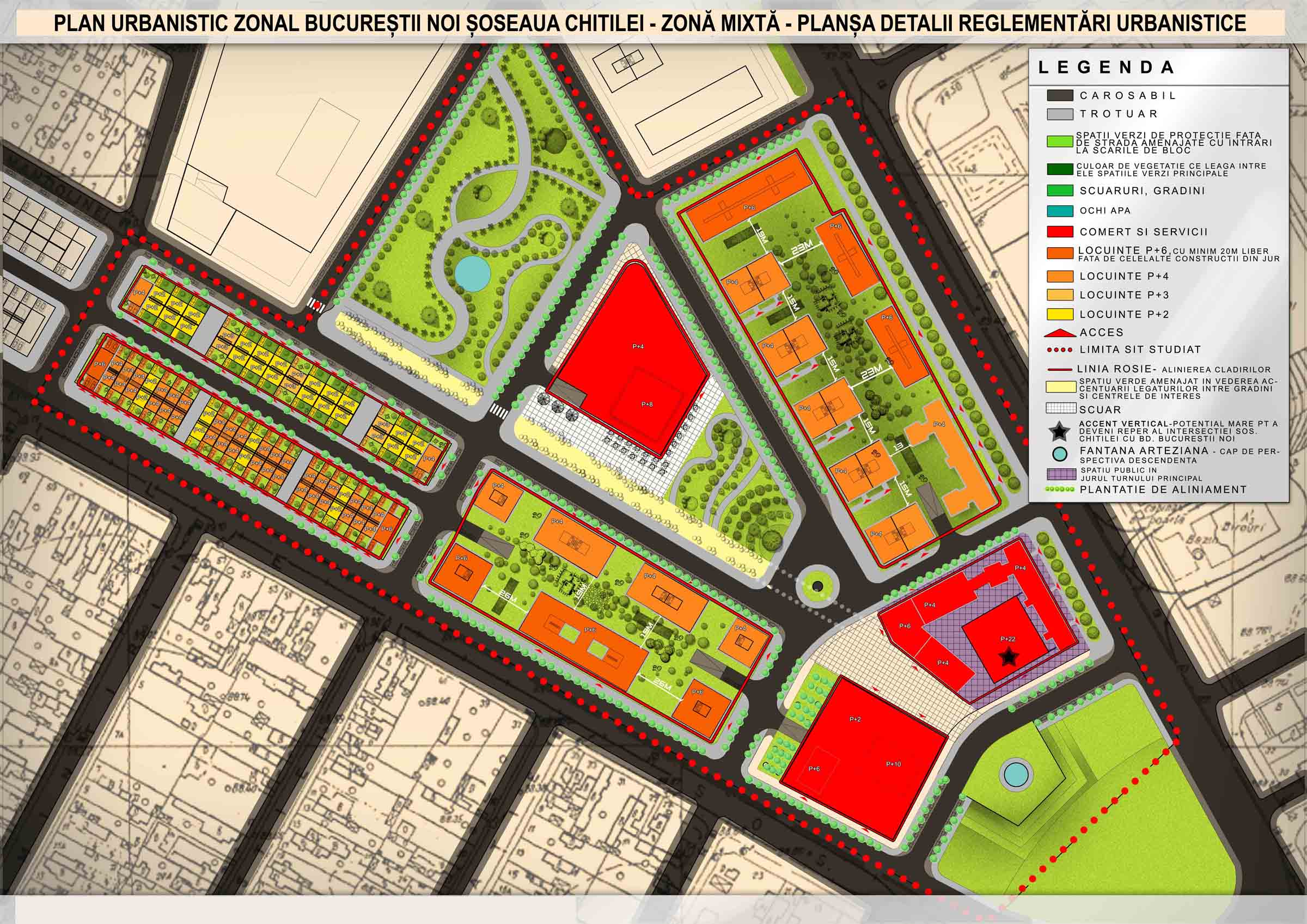 Plansa detalii urbanistice