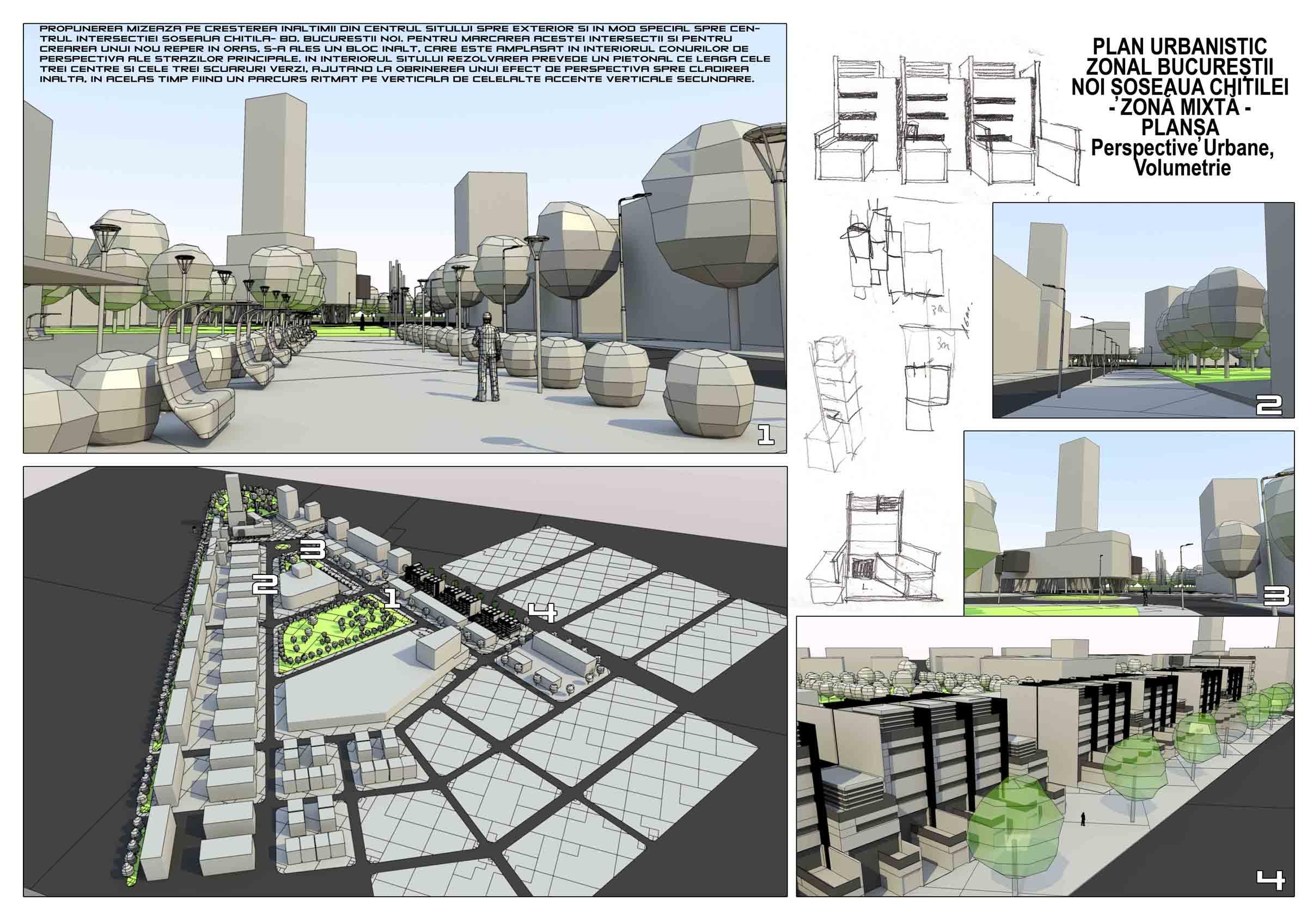 Perspective urbane si volumetrie
