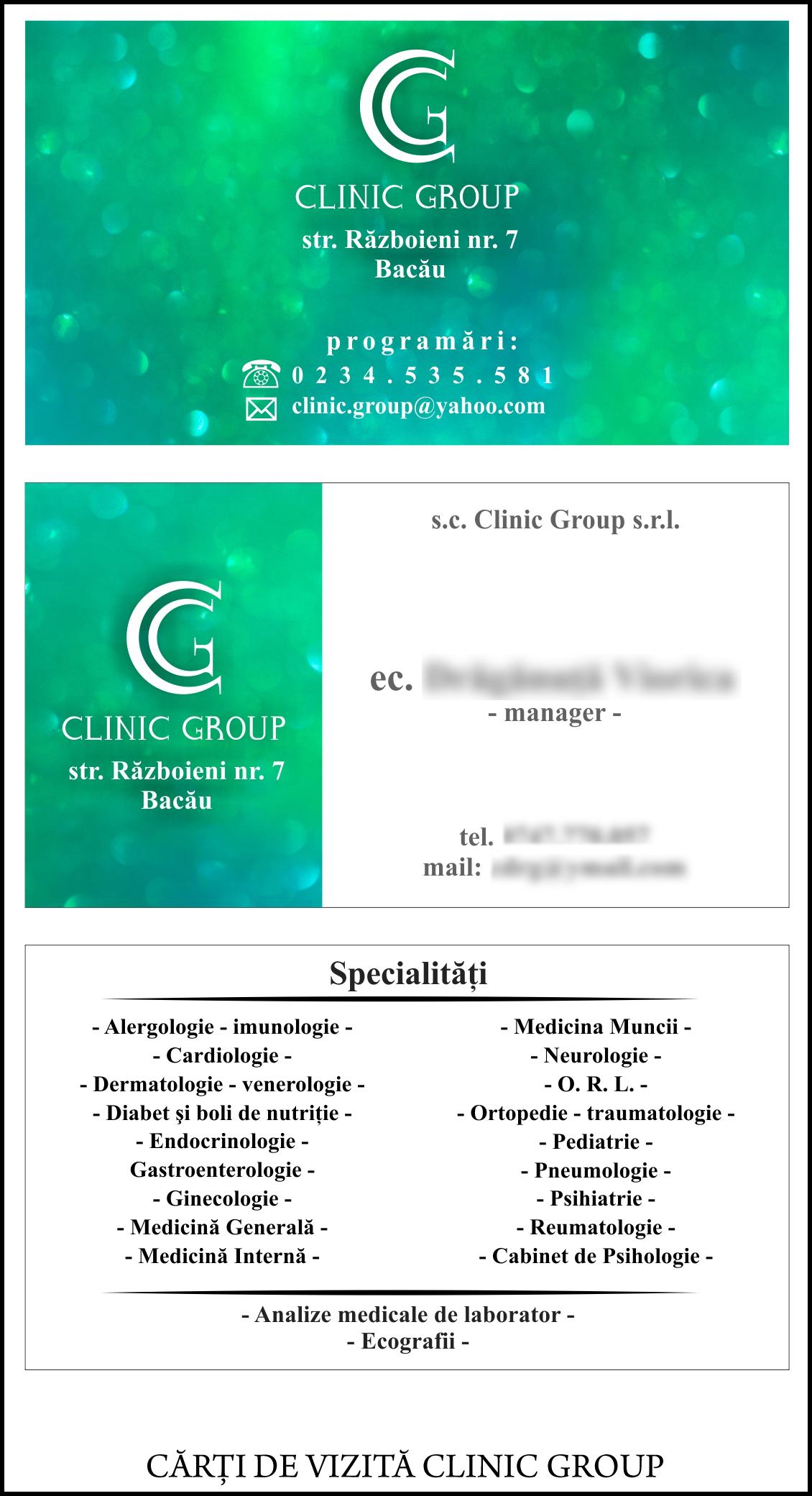 Carti de vizita Clinic Group