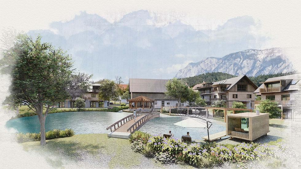 Poeckau bei Villach Dorfsiedlung.jpg