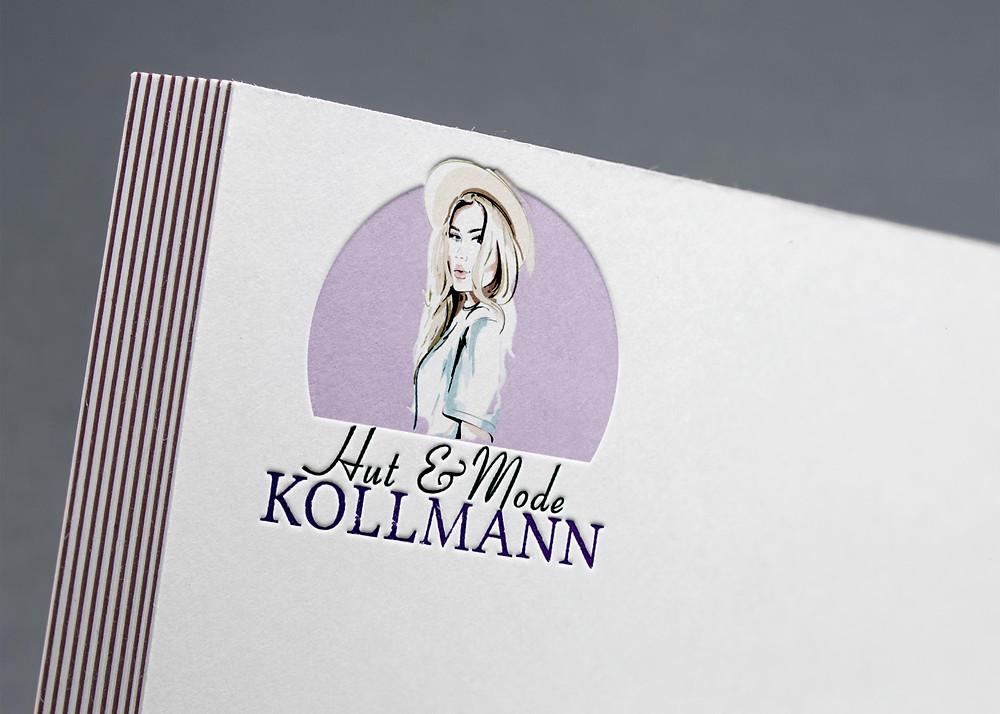 Hut & Mode Kollmann Logodesign Modegeschäft Karin Kollmann  © KATJA KOMMT - AGENTUR FÜR BESSERE KOMMUNIKATION