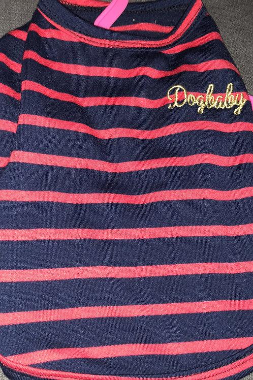 Dog Baby - Red Stripe T Shirt XS