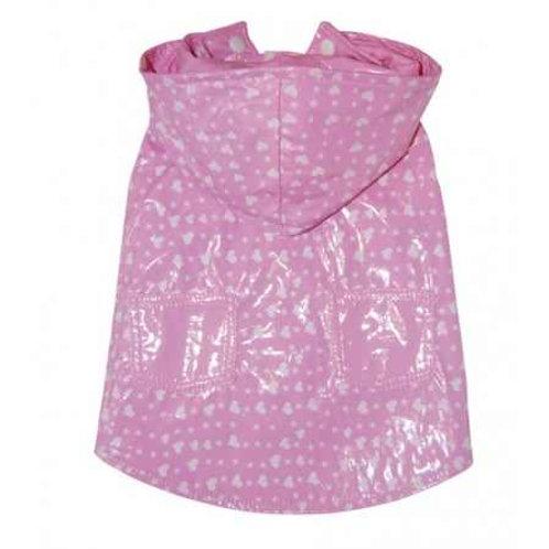 Pink Reversible Pet London Rain Coat