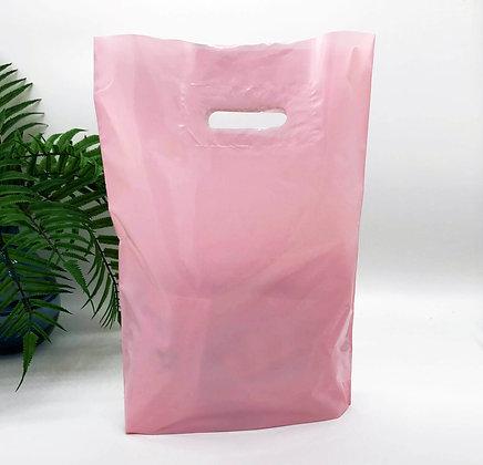 """Пакет """"Банан"""", 30х40 см, 50 мкм, ПВД, розовый"""