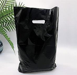 "Пакет ""Банан"", 30х40 см, 50 мкм, ПВД, черный"