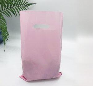"""Пакет """"Банан"""", 20х30 см, 50 мкм, ПВД, розовый"""
