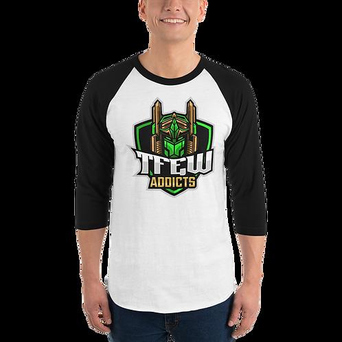 TFEW Addicts -3/4 sleeve raglan shirt
