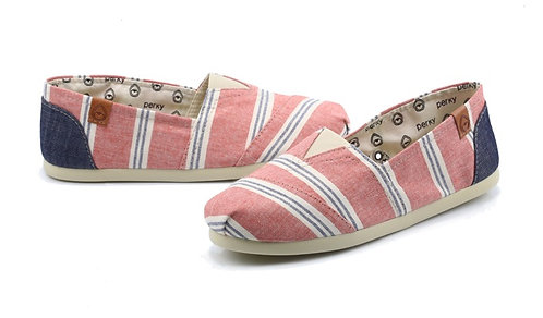 #Perky RED STRIPED CANVAS