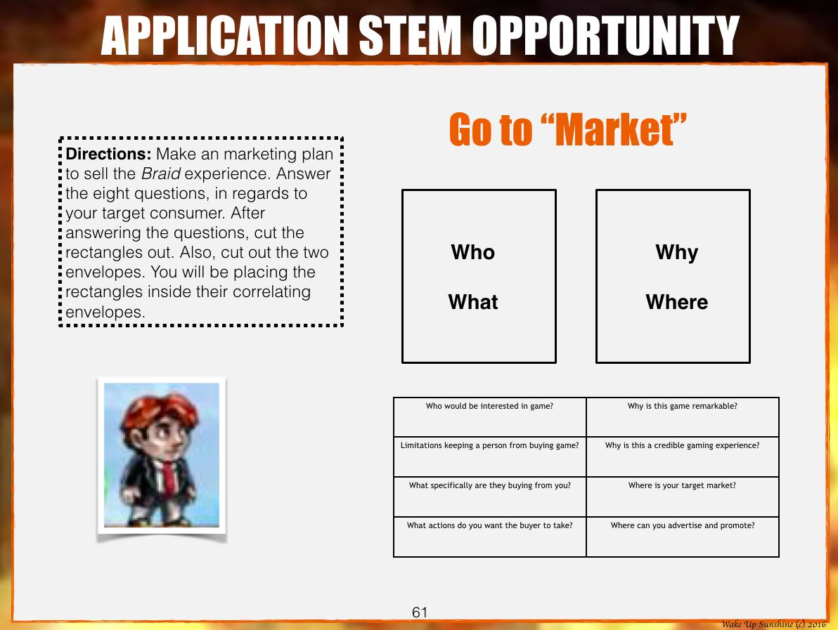 Marketing STEM Activity