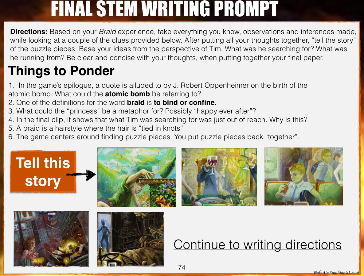 Final Writing Prompt
