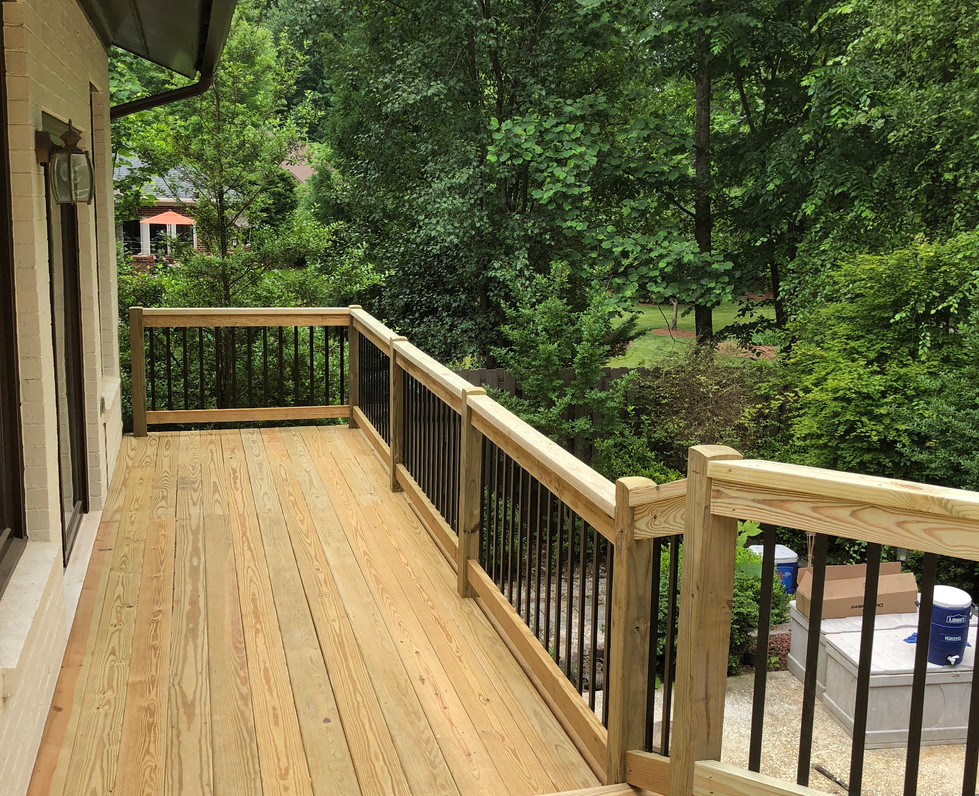 Pleasant Garden Deck; 118ft; 22ft spansP