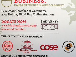 Click. Bid. Buy Local Proceeds benefit Lakewood Chamber of Commerce