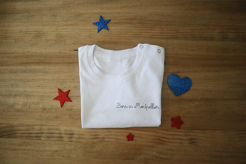 Le T-shirt Born in Montpellier