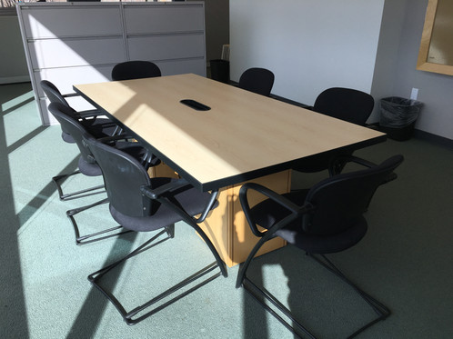 TBL Maple Ft Kimball Conference Tables - 7 ft conference table