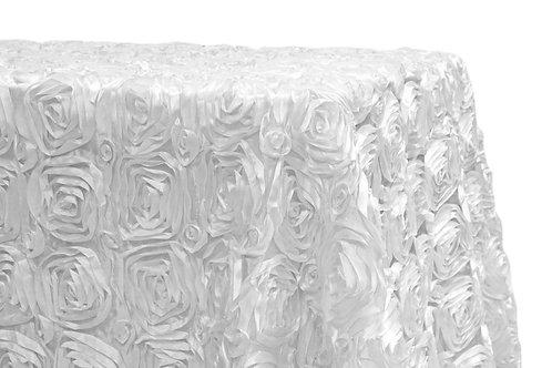 White Lush Rosette Linen