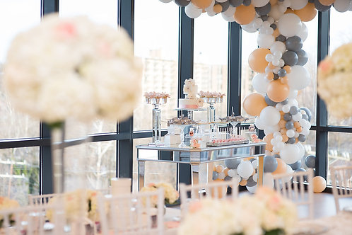 Mirrored Sweetheart and Dessert Table