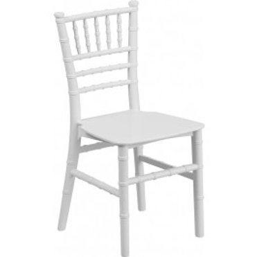 Kids White Chiavari Resin Chair (White cushion included)
