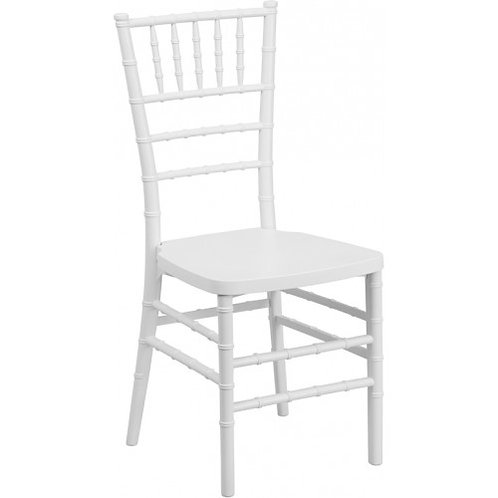 Elegant White Resin Chiavari Chair (White cushion included)